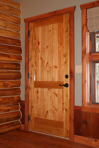 handcrafted solid wood interior doors